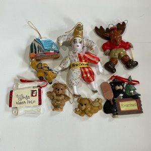 Vintage Lot of 8 Christmas Ornaments National park
